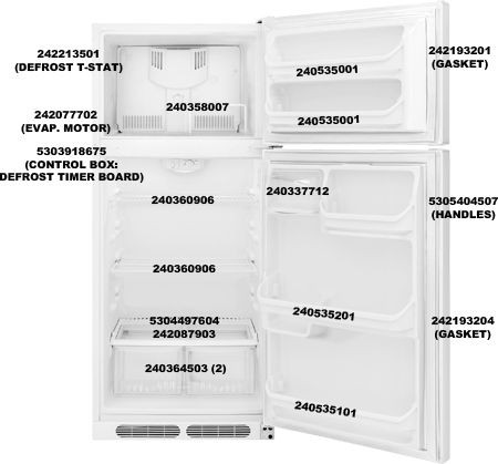 Frigidaire 5303918675 Control Box, Defros