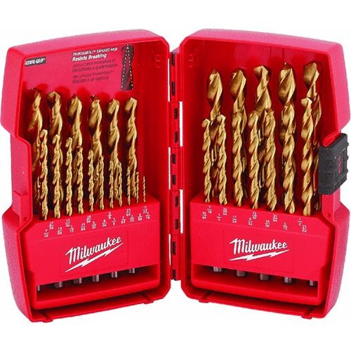 Milwaukee Accessory Milwaukee Thunderbolt 29-Piece Titanium Drill Bit Set