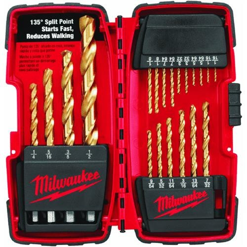 Milwaukee Accessory Milwaukee Thunderbolt 20-Piece Titanium Drill Bit Set
