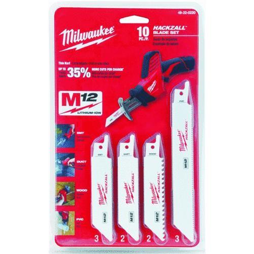 Milwaukee Accessory Milwaukee Hackzall Mini Reciprocating Blade Set