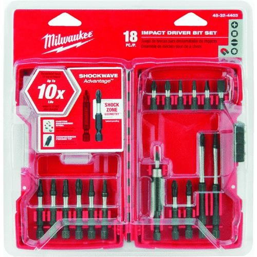 Milwaukee Elec.Tool Milwaukee Shockwave 18-Piece Impact Screwdriver Bit Set
