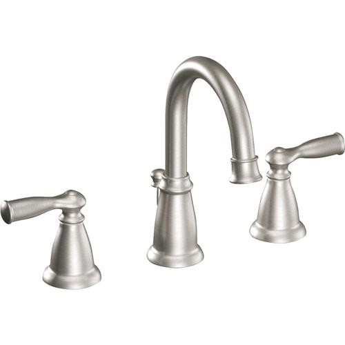 Moen Inc Moen Banbury Brushed Nickel 2-Handle Widespread Bathroom Faucet With Pop-Up