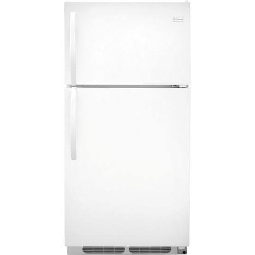Frigidaire 15 C/F Refrigerator with Top Freezer, Energy Star, Wire Shelves, No Ice Maker, ADA Compliant, FFHT1514TW. White