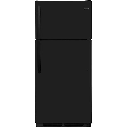 Frigidaire 16 C/F Refrigerator with Top Freezer, Energy Star, Glass Shelves, No Ice Maker, ADA Compliant, FFHT1621TB , Black