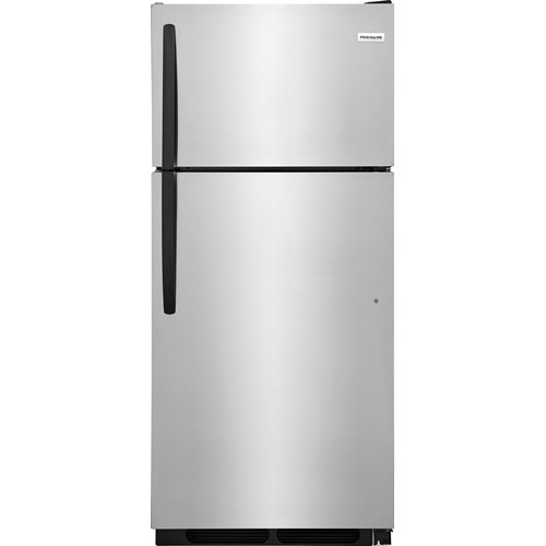 Frigidaire 16 C/F Refrigerator with Top Freezer, Energy Star, Glass Shelves, No Ice Maker, ADA Compliant, FFHT1621TS, Stainless Steel