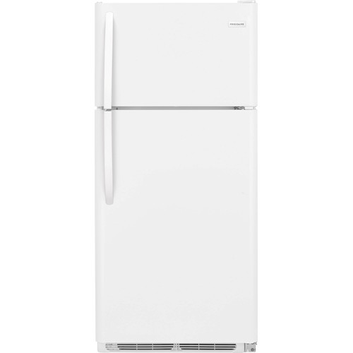 Frigidaire 18 C/F Refrigerator with Top Freezer,  Energy Star, Wire Shelves, No Ice Maker, ADA Compliant, FFTR1814TW, White