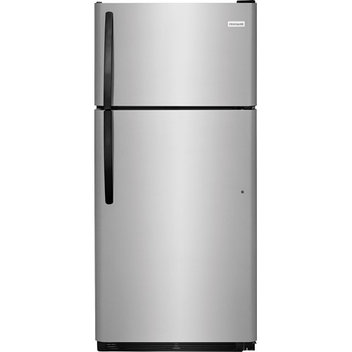 Frigidaire 18 C/F Refrigerator with Top Freezer,  Energy Star, Wire Shelves, No Ice Maker, ADA Compliant, FFTR1814TS, Stainless Steel