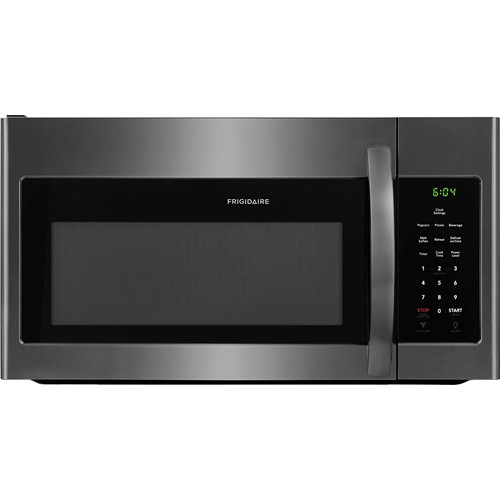 Frigidaire Microwave 1.6 C/F, Over-The-Range, FFMV1645TD, Black Stainless Steel