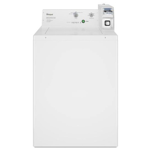Whirlpool 2.9  C/F Commercial Washer, Coin Operated, CAE2745FQ, White