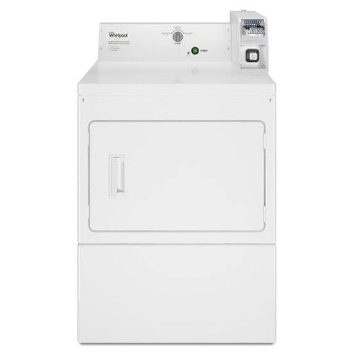 Whirlpool 7.4 C/F Commercial Electric Dryer, Coin Operated, CEM2745FQ, White