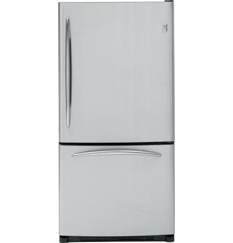 General Electric 19.5 C/F Refrigerator with Bottom Freezer  Glass Shelves, Ice Maker,  Energy Star, PDS20SFSLSS, Stainless Steel