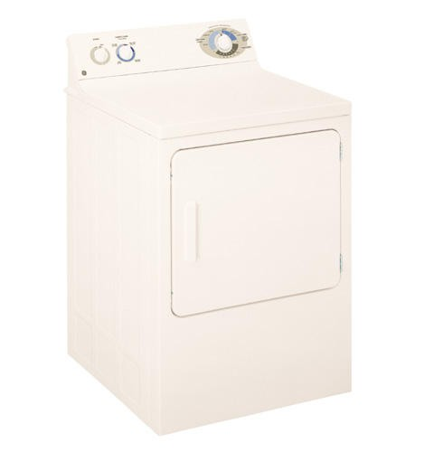 General Electric 6.0 C/F Electric Dryer, Dura Drum, 4 Cycles, DJXR433ECCC, Bisque
