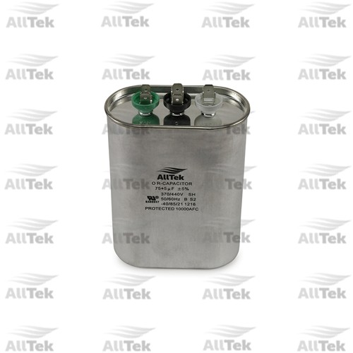 AllTek 75+5UF 370/440V DUAL RUNNING CAPACITOR DUAL VOLTAGE OVAL
