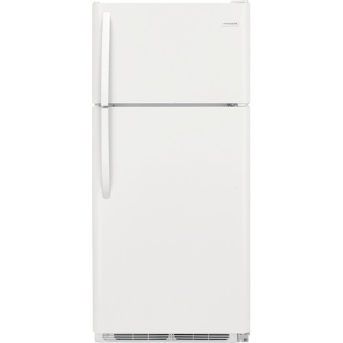 Frigidaire 18 C/F Refrigerator with Top Freezer, Energy Star, Glass Shelves, No Ice Maker, ADA Compliant, FFHT1832TP, White