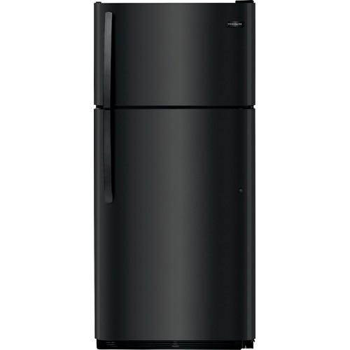 Frigidaire 18 C/F Refrigerator with Top Freezer, Energy Star, Glass Shelves, No Ice Maker, ADA Compliant, FFHT1832TE, Black