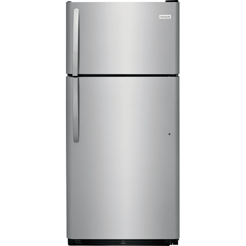 Frigidaire 18 C/F Refrigerator with Top Freezer, Energy Star, Glass Shelves, No Ice Maker, ADA Compliant, FFHT1832TS, Stainless Steel