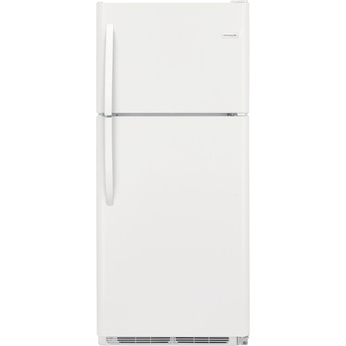 Frigidaire 21 C/F Refrigerator with Top Freezer,  Energy Star, Glass Shelves, No Ice Maker, FFTR2021TW, White