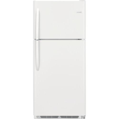 Frigidaire 21 C/F Refrigerator with Top Freezer,  Energy Star, Glass Shelves, No Ice Maker, FFTR2021TW, White