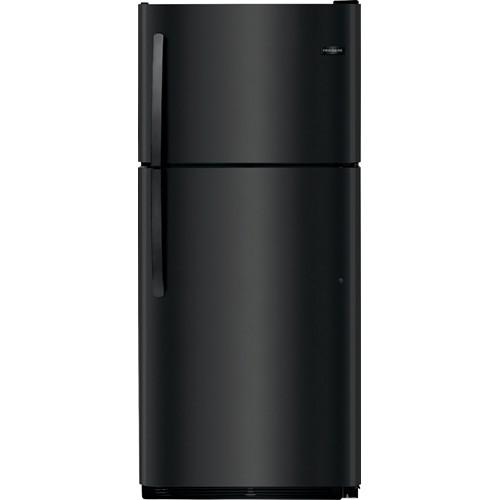 Frigidaire 21 C/F Refrigerator with Top Freezer,  Energy Star, Glass Shelves, No Ice Maker, FFTR2021TB, Black
