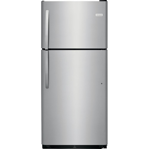 Frigidaire 21 C/F Refrigerator with Top Freezer,  Energy Star, Glass Shelves, No Ice Maker, FFTR2021TS, Stainless Steel