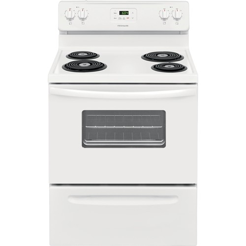 "Frigidaire 30"" Freestanding Electric Range Coil Burner, Window, Manual Clean, ADA Compliant, FFEF3012UW, White"