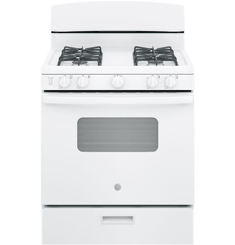 "General Electric 30"" Freestanding Gas Range, ADA Compliant, Window, Electric Ignition, JGBS10DEMWW, White"