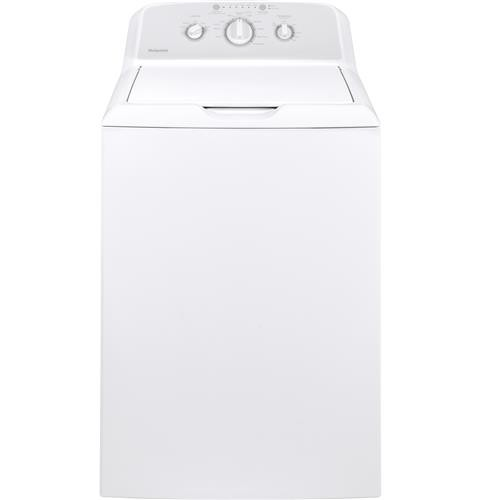 Hotpoint Top Load Washer 3.8 C/F, Stainless Steel Basket, 10 Cycles, HTW240ASKWS, White
