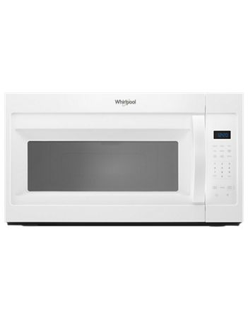 Whirlpool Microwave 1.7 C/F  Over-The-Range, 1000 Watts, 2 Speed, 300 CFM Vent, WMH31017HW, White