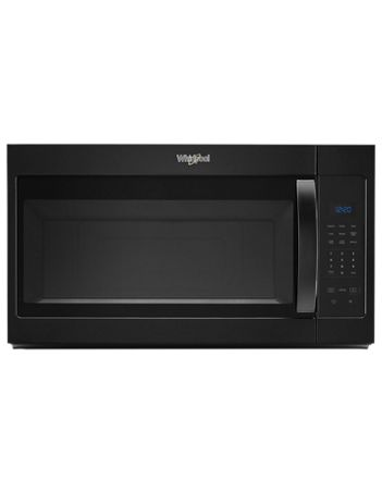 Whirlpool Microwave 1.7 C/F  Over-The-Range, 1000 Watts, 2 Speed, 300 CFM Vent, WMH31017HB, Black