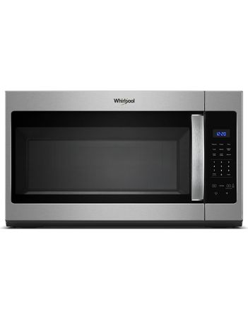 Whirlpool Microwave 1.7 C/F  Over-The-Range, 1000 Watts, 2 Speed, 300 CFM Vent, WMH31017FS, Stainless Steel