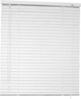 Designer's Touch 1 in. PVC Vertical Blinds White - 30 in. W x 64 in. L