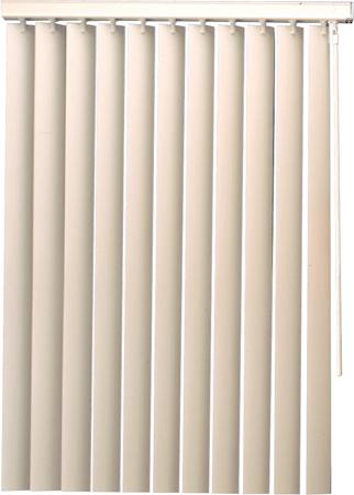 Designer's Touch 3.5 in. PVC Vertical Blinds White - 104 in. W x 84 in. L