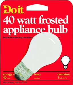 GE Lighting 40W FROST APPLIANCE BULB