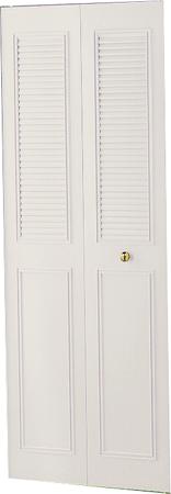 Dunbarton Corporation THE CLASSIC METAL BI-FOLD DOOR, IVORY, 2 PANEL, 18X80 IN.