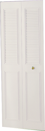 Dunbarton Corporation THE CLASSIC METAL BI-FOLD DOOR, IVORY, 2 PANEL, 36X80 IN.