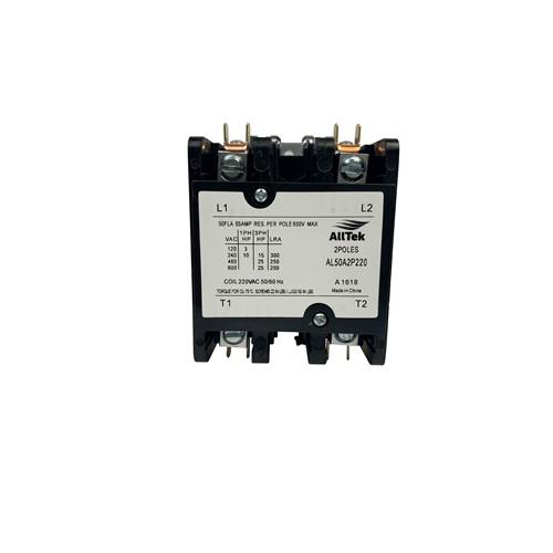 AllTek Contactor 50 A 220 VAC 2 Pole