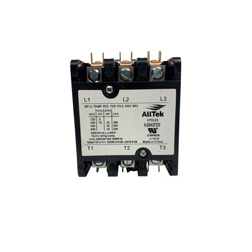 AllTek Contactor 60 A 220 VAC 3 Pole
