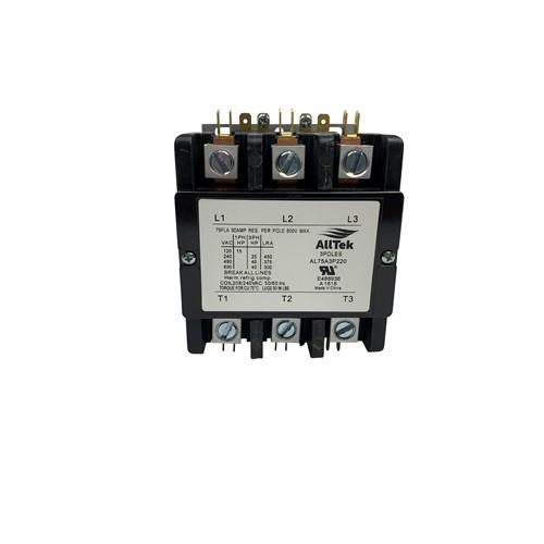AllTek Contactor 75 A 220 VAC 3 Pole