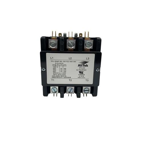 AllTek Contactor 75 A 24 VAC 3 Pole