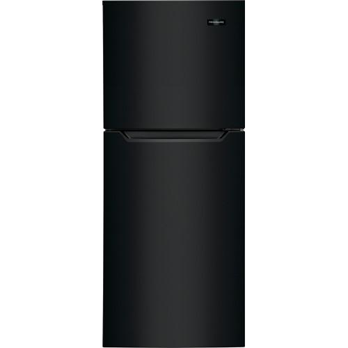 Frigidaire 11 C/F Refrigerator with Top Freezer Glass Shelves, No Ice Maker, ADA Compliant, FFET1022UB, Black