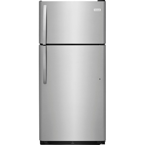 Frigidaire 18 C/F Refrigerator with Top Freezer Glass Shelves, No Ice Maker, ADA Compliant, FFTR1835VS, Stainless Steel