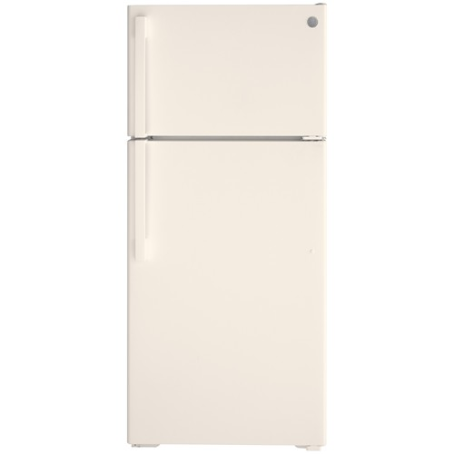 General Electric 16.6 C/F Refrigerator with Top Freezer, Wire Shelves, Energy Star, No Ice Maker, ADA Compliant, GTE17DTNRBB, Bisque
