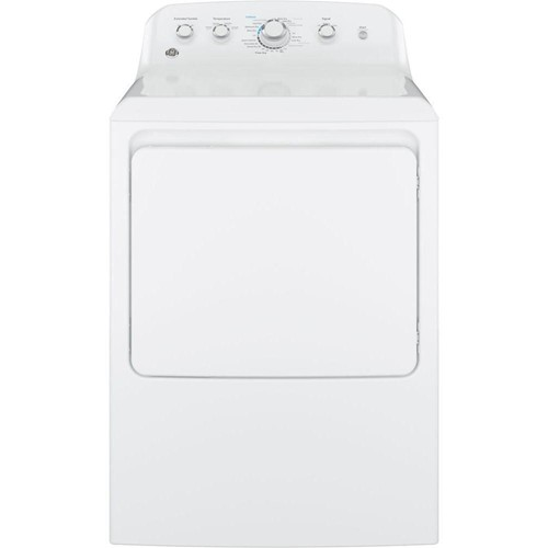 General Electric 7.2 C/F Electric Dryer, Aluminized Alloy Drum, 4 Cycles, GTD42EASJWW, White