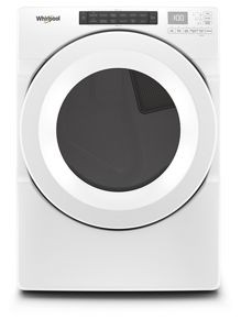 Whirlpool Front Load Electric Dryer 7.4 C/F Capacity,12 Cycles, Energy Star, WED5620HW, White