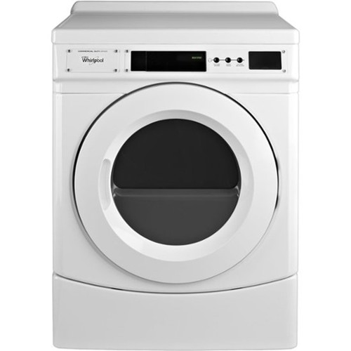 General Electric Commercial Front Load Dryer 6.7 C/F, Non Coin Operated CED9160GW, White