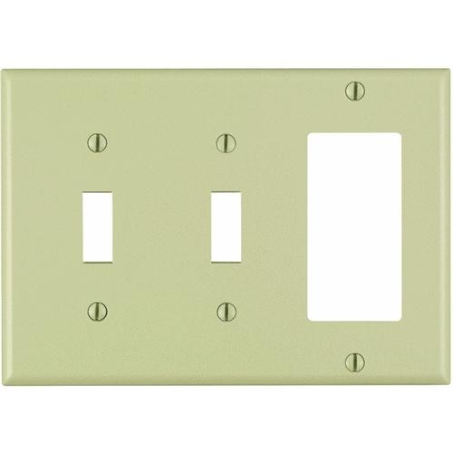 Leviton 3-Gang Combination Wall Plate