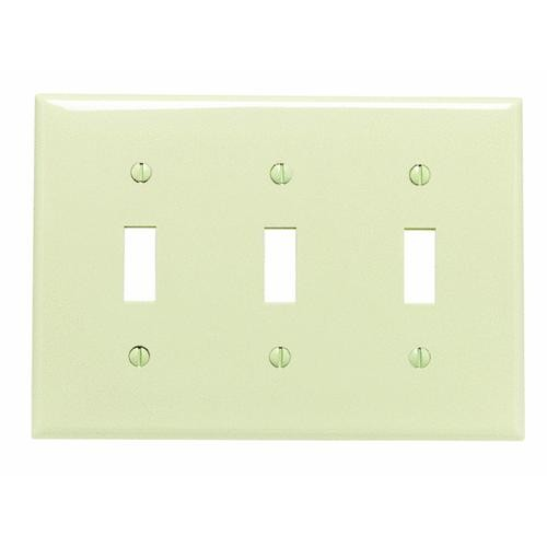 Leviton Nylon Triple Switch Wall Plate