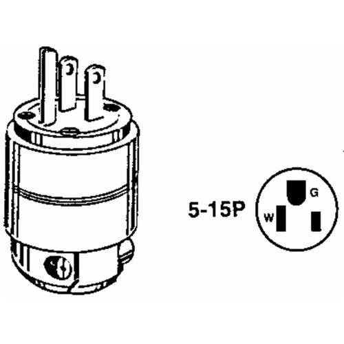 Leviton Leviton Residential Grounding Cord Plug