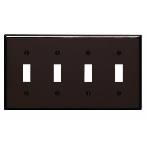Leviton 4-Toggle Switch Wall Plate