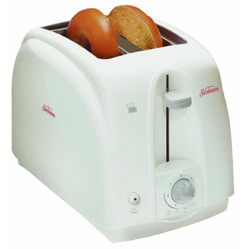 Jarden Consumer Solutions 2-Slot White Bagel Toaster